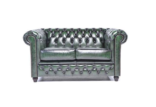 2-Sitzer Sofa Antikgrün