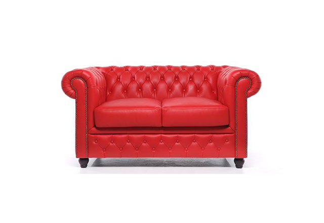 2-Sitzer Sofa Rot