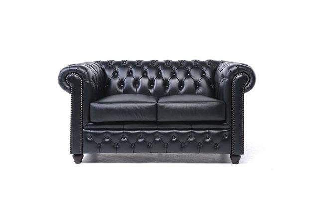 2-Sitzer Sofa Schwarz