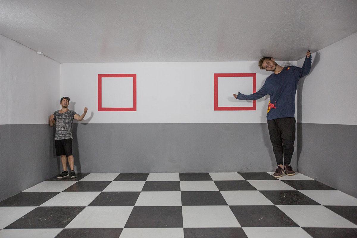 Freerun mit perspektivischen Illusionen