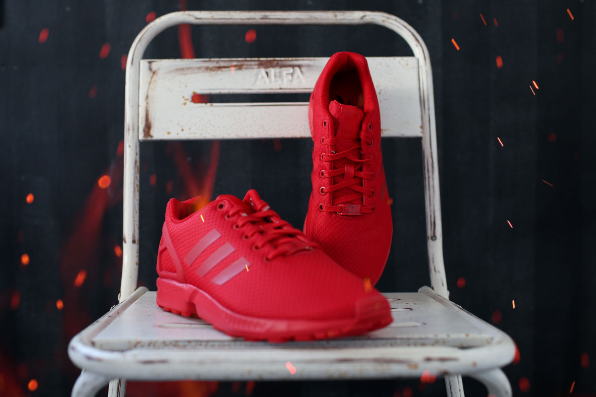 All Red ZX Flux Mono #1