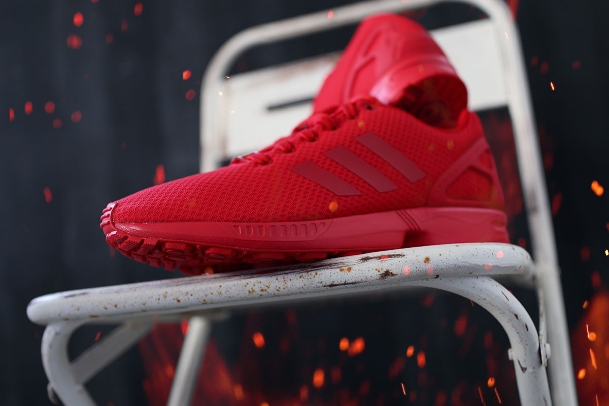 All Red ZX Flux Mono #2