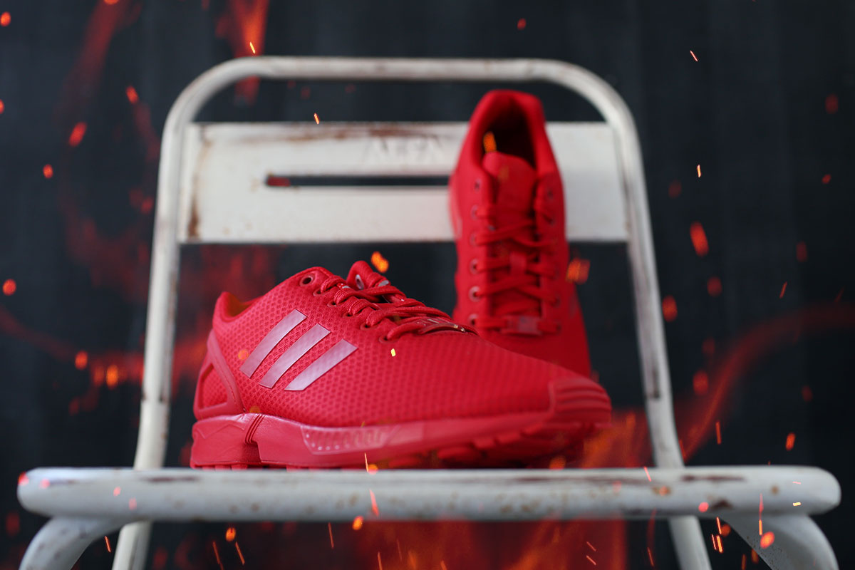 All Red ZX Flux Mono #5