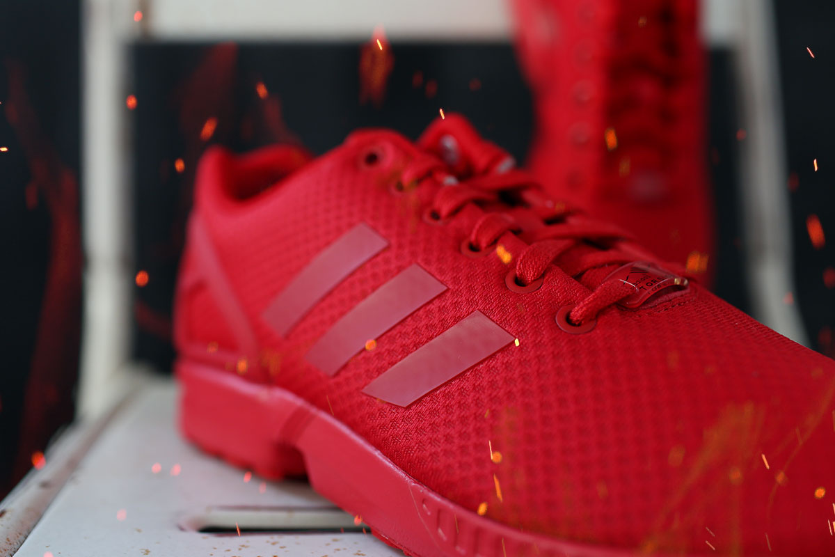 All Red ZX Flux Mono #6