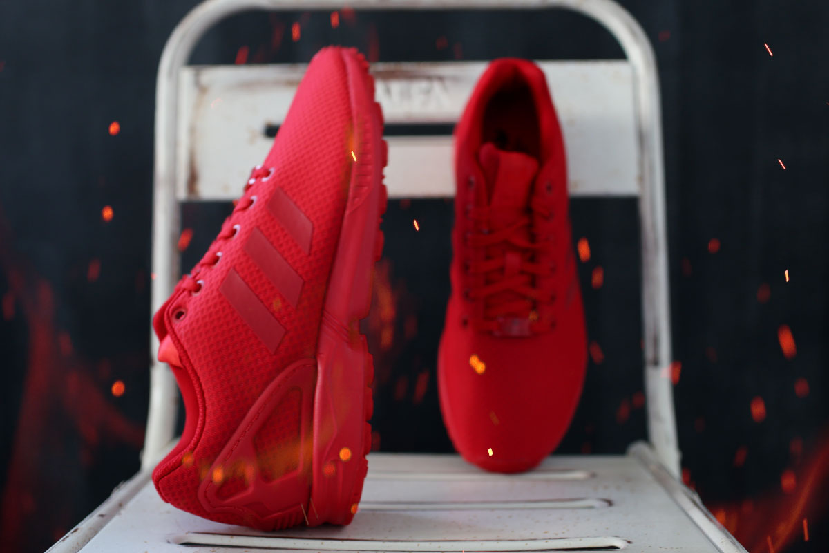 All Red ZX Flux Mono #7