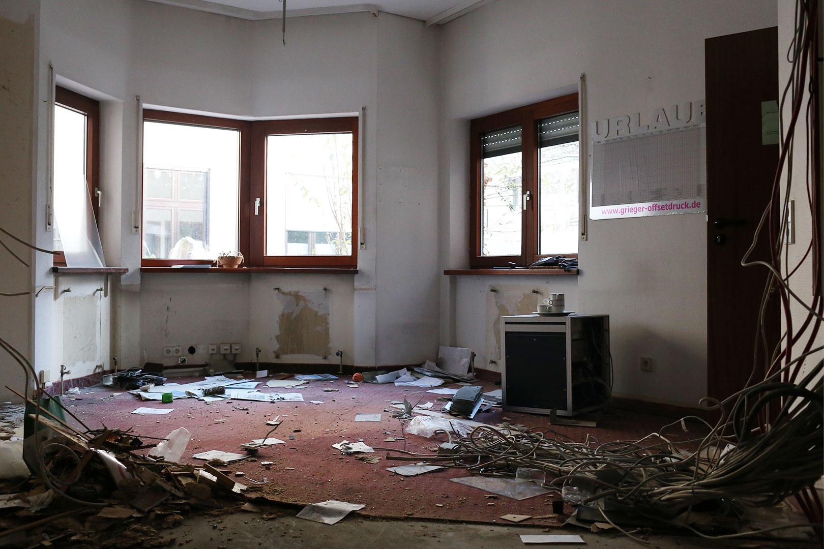 Verwüstete Zimmer