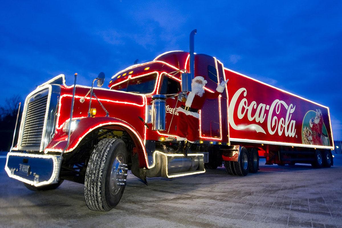Zu Besuch bei den Coca-Cola Weihnachtstrucks in Bielefeld
