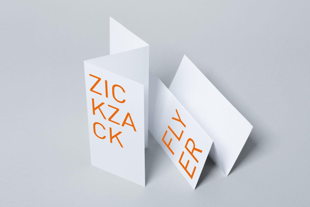 Zickzack-Flyer