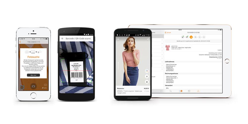 Mobil Shoppen bei Zalando