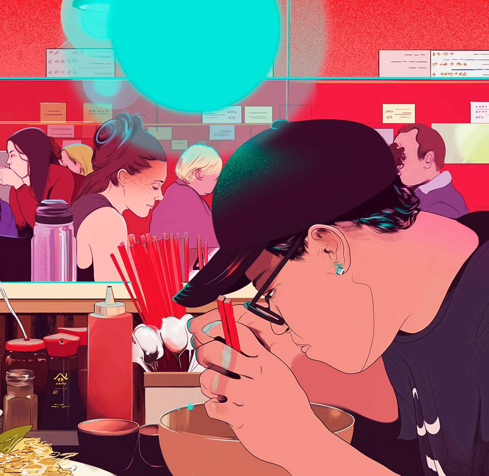 Illustrationen von Janelle Barone im Graphic-Novel-Style