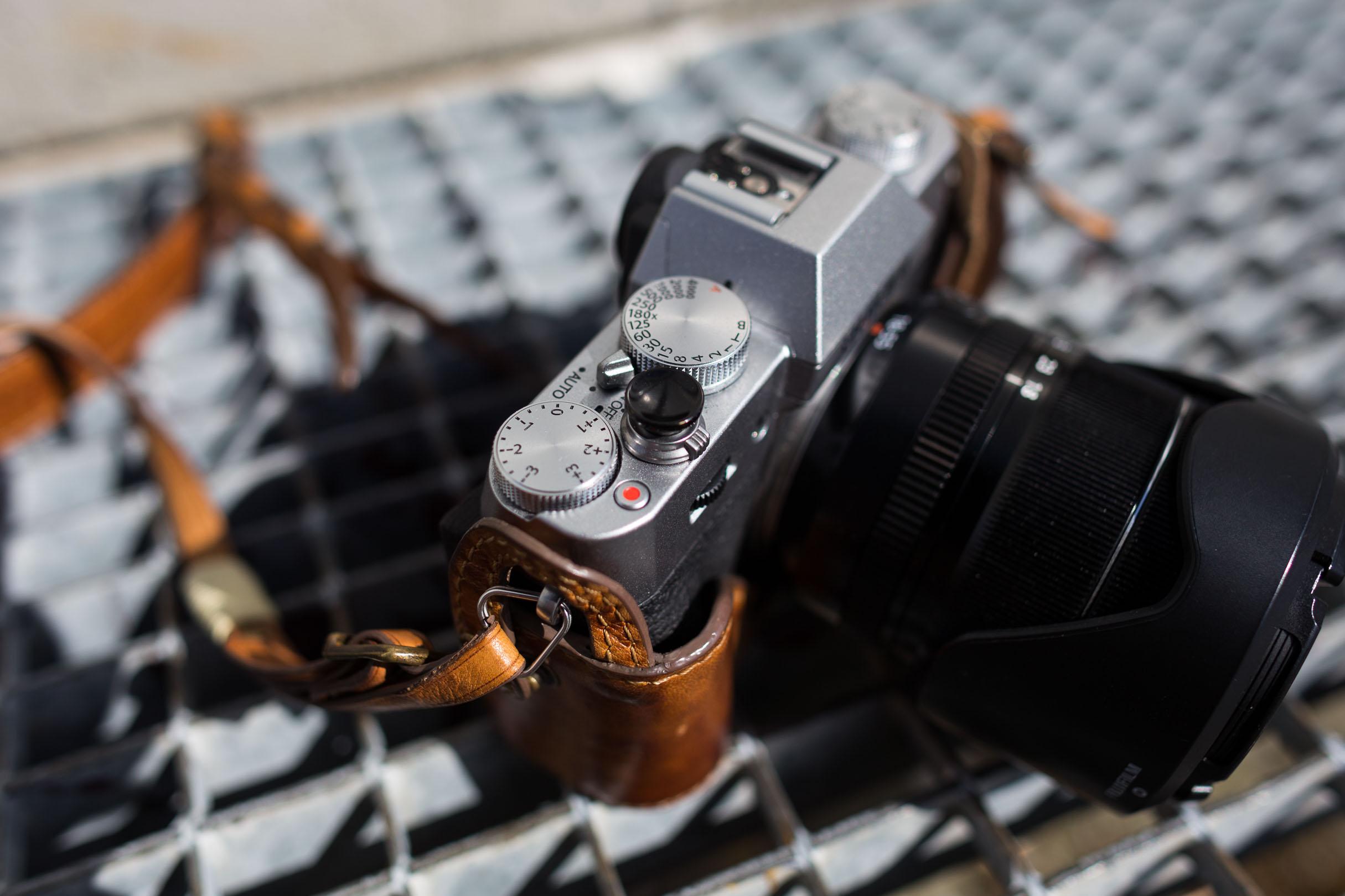 Leder-Kameragriff
