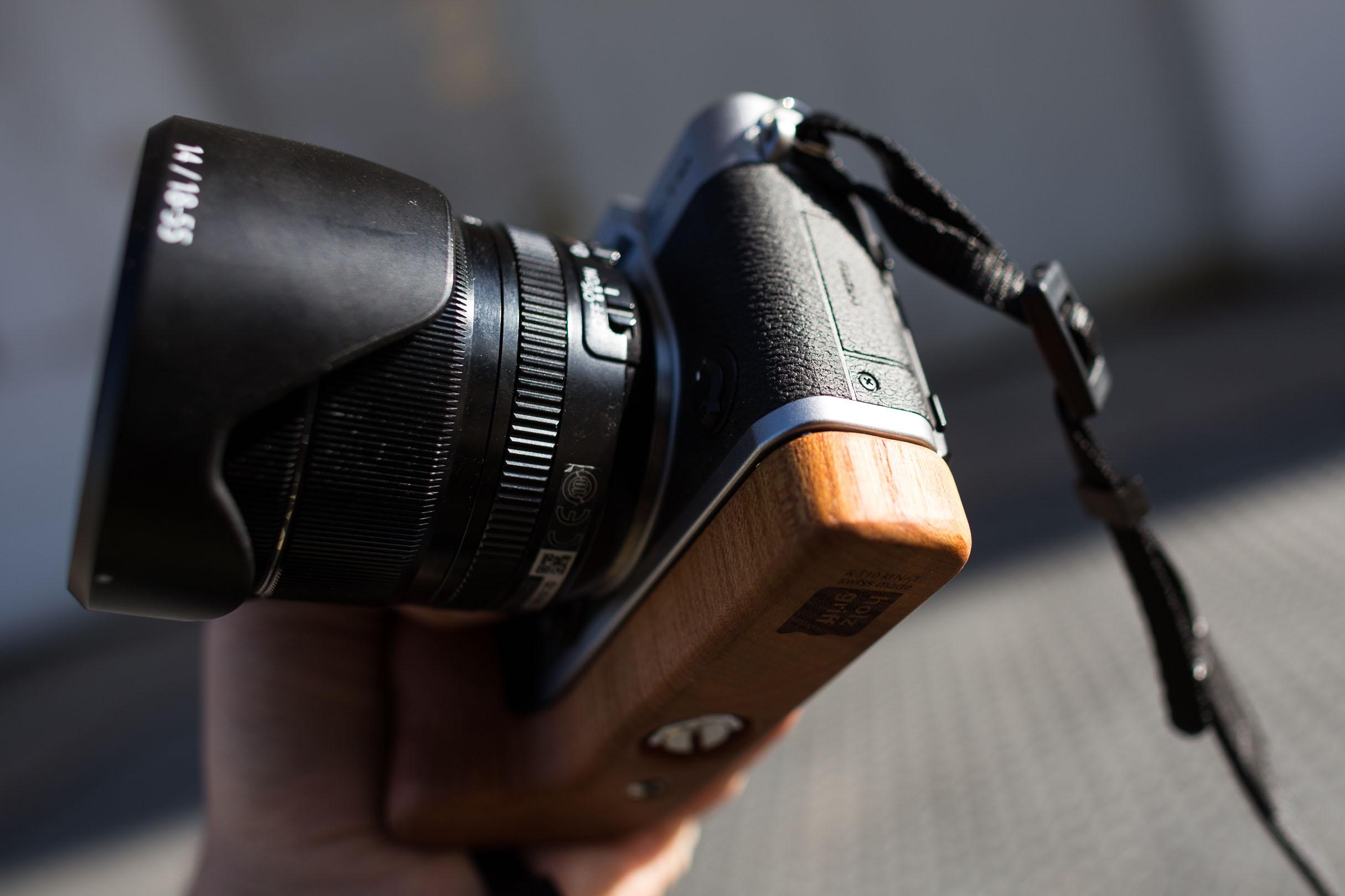 Holz-Kameragriff