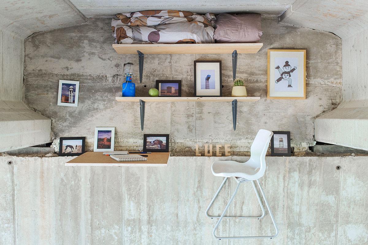 Dieser Designer arbeitet in einem geheimen Studio unter einer Brücke