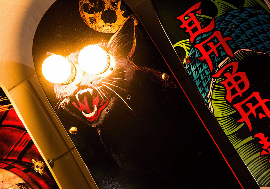 Eddison Skateboardlampe Augen