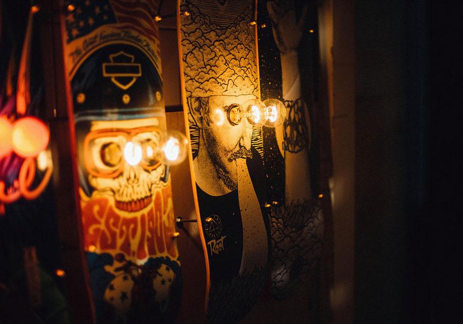 Eddison Skateboardlampen dunkel
