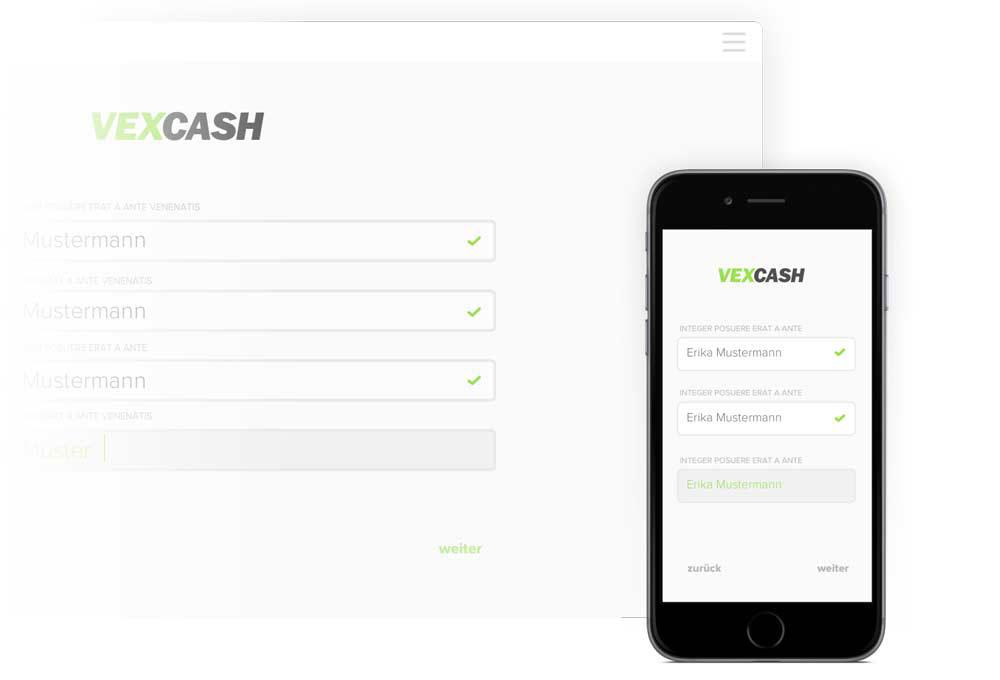 Wenn es am Monatsende mal wieder knapp wird, hilft der VEXCASH Kurzzeitkredit