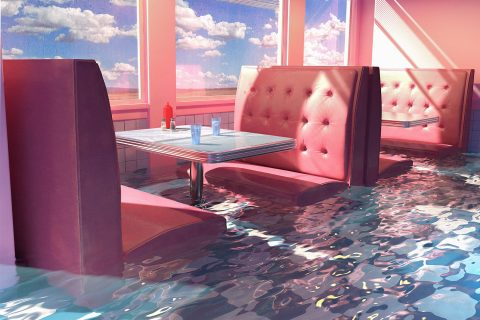Diner unter Wasser