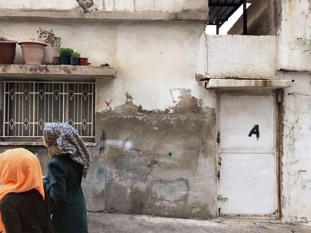 Bröckelnde Fassaden in Palästina