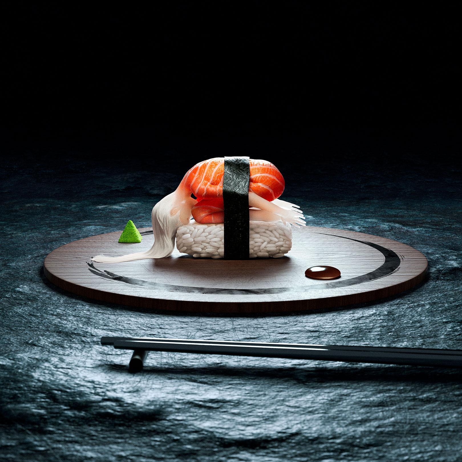 Raw - The ultimate delicacy | Sushi Girl neu interpretiert