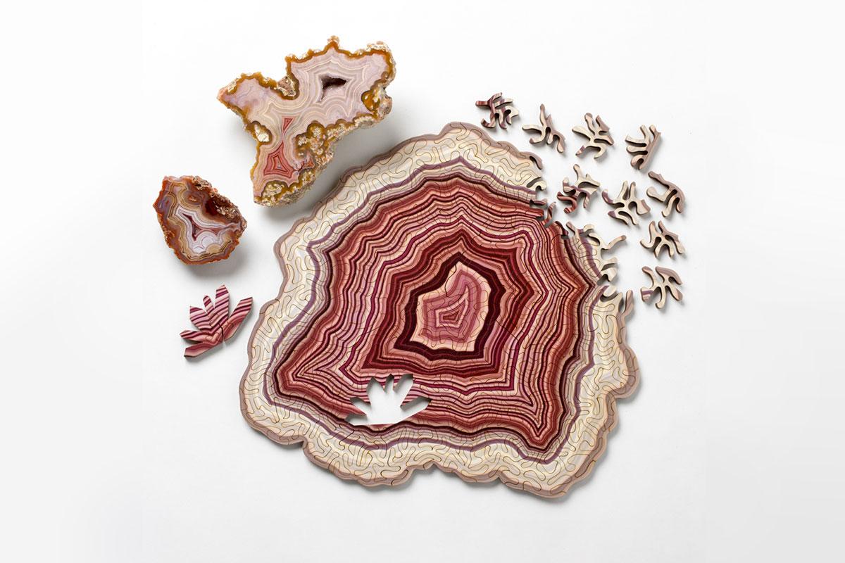 Computergeneriert Geologie Puzzle aus dem 3D-Drucker
