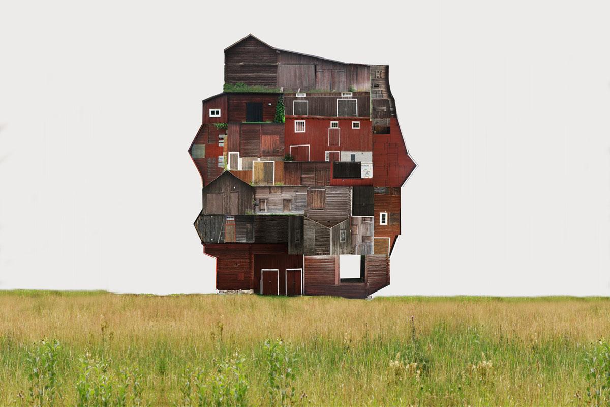 Stadt-Collagen von Anastasia Savinova