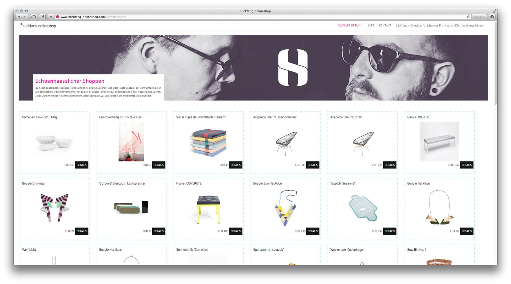 Blickfang Onlineshop Schoenhaesslich