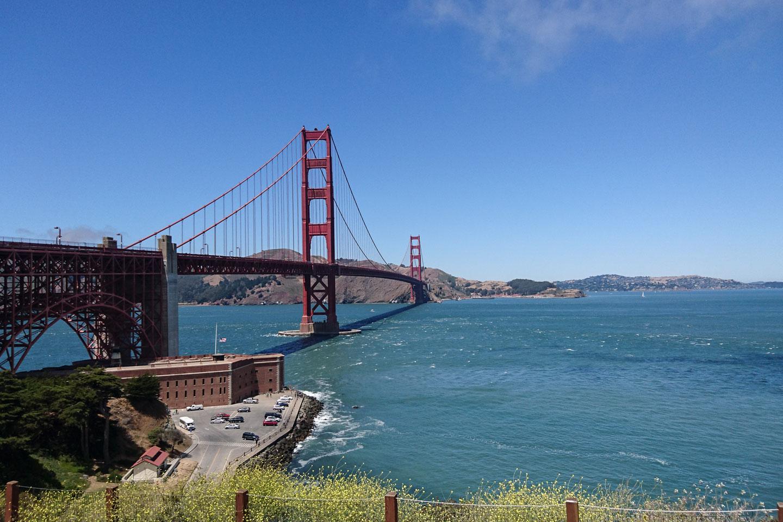 Mit dem Fahrrad Golden Gate Bridge
