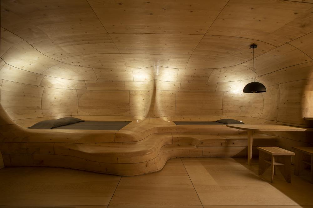 Wooden Cave Schlafbereich