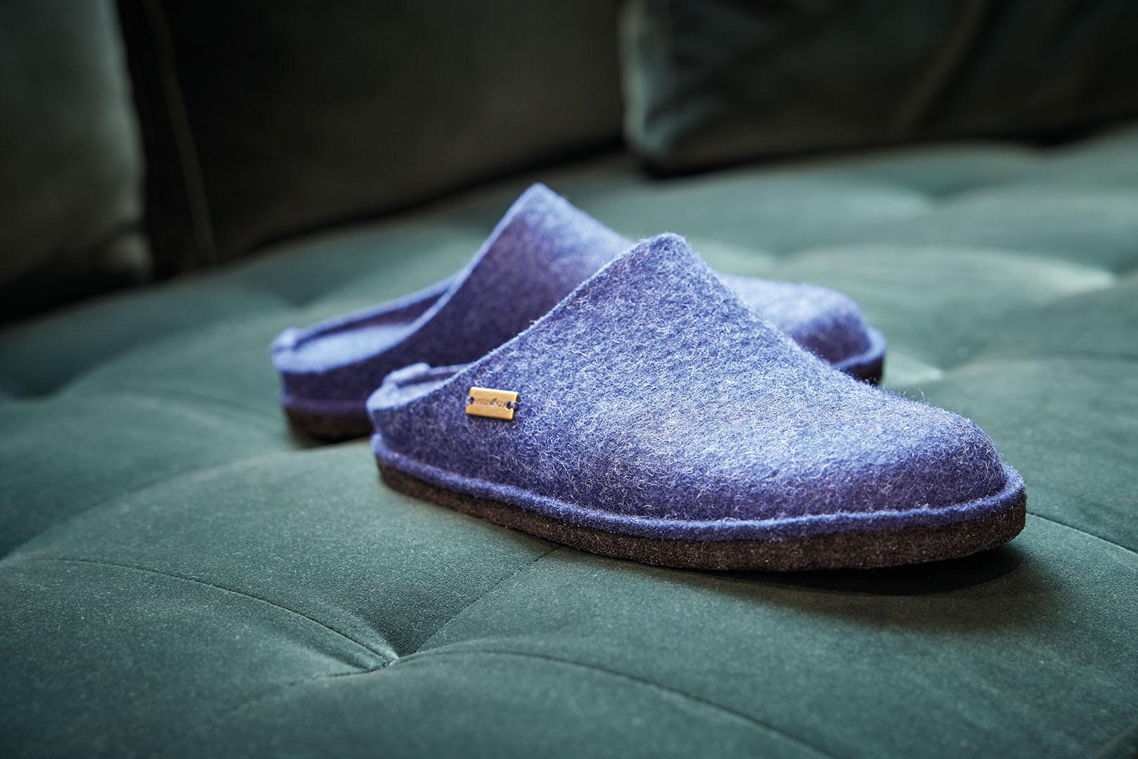 DIY-Hausschuhe aus Filz stricken: So geht's
