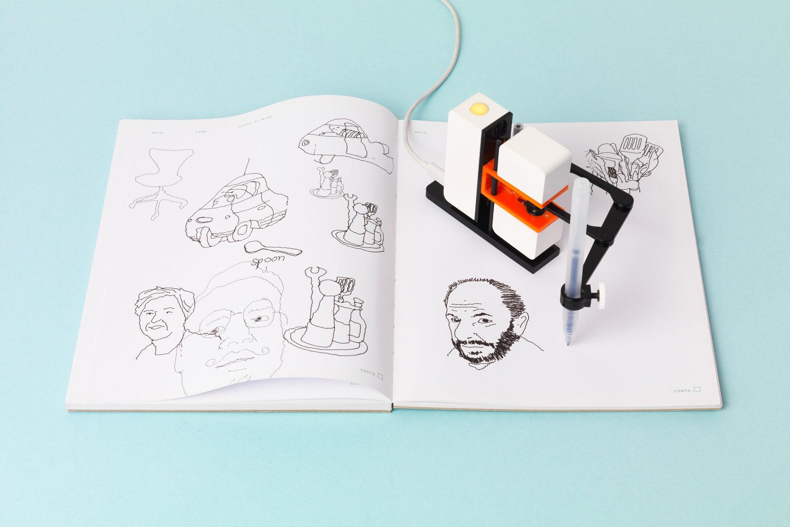 Dieser Roboter-Arm zeichnet deine Bilder: Line-us, die Zeichenmaschine