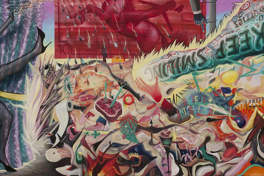 Gesellschaftskritik on Acid- Gemälde von Dawid Czycz