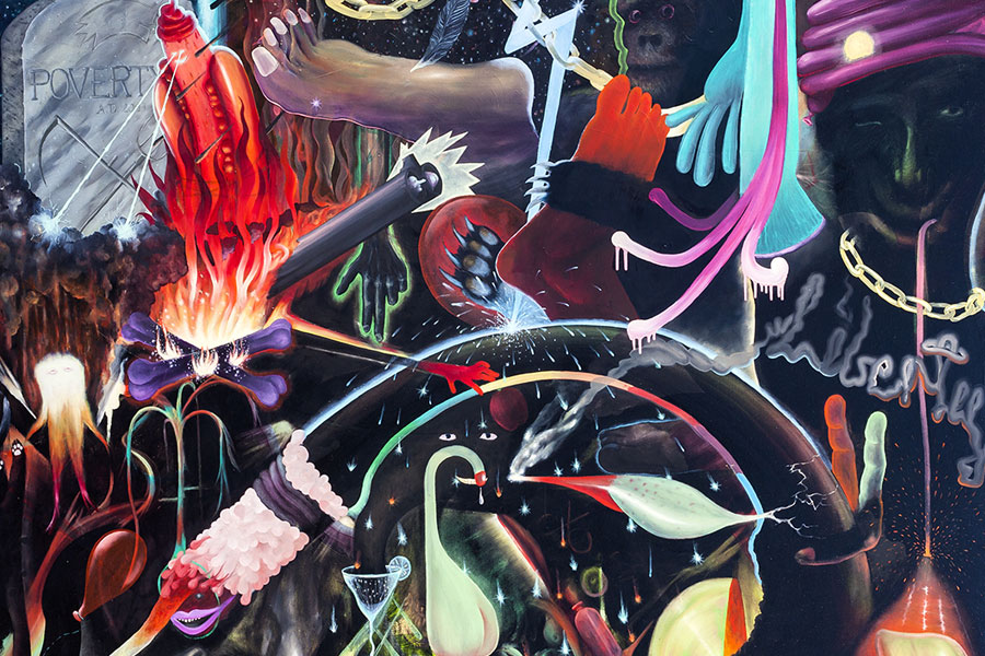 psychedelisches Gemälde