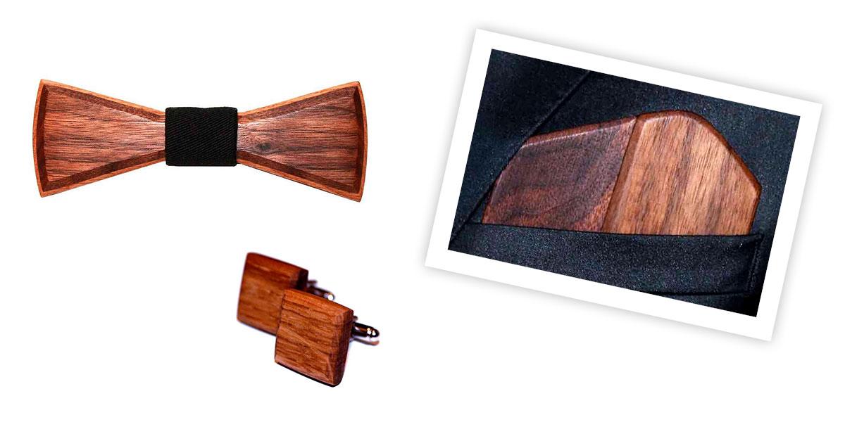 Hochzeitsaccessoires aus Holz von Bowood