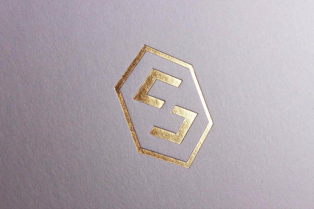 Goldprägung Letterpress