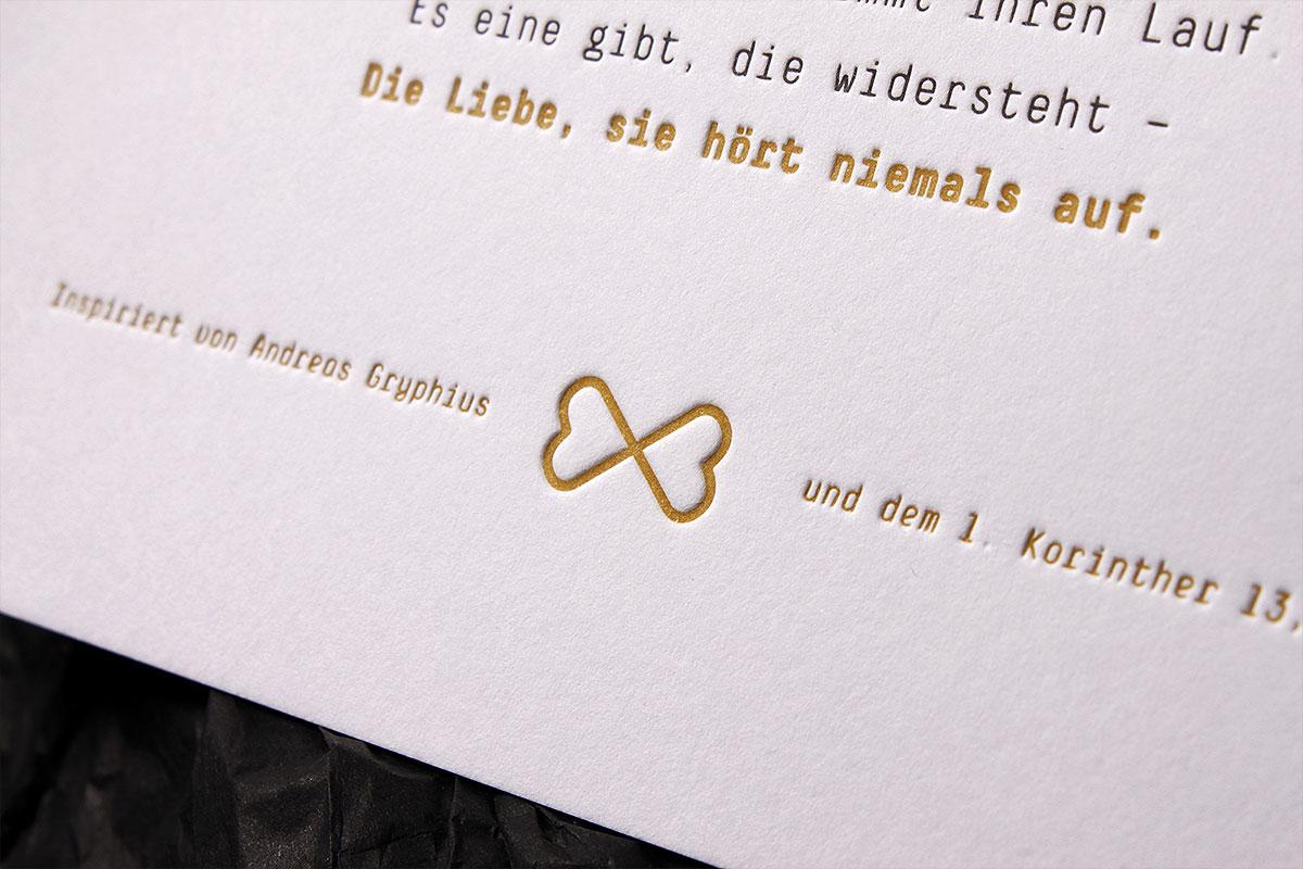 Letterpress Einladungskarten