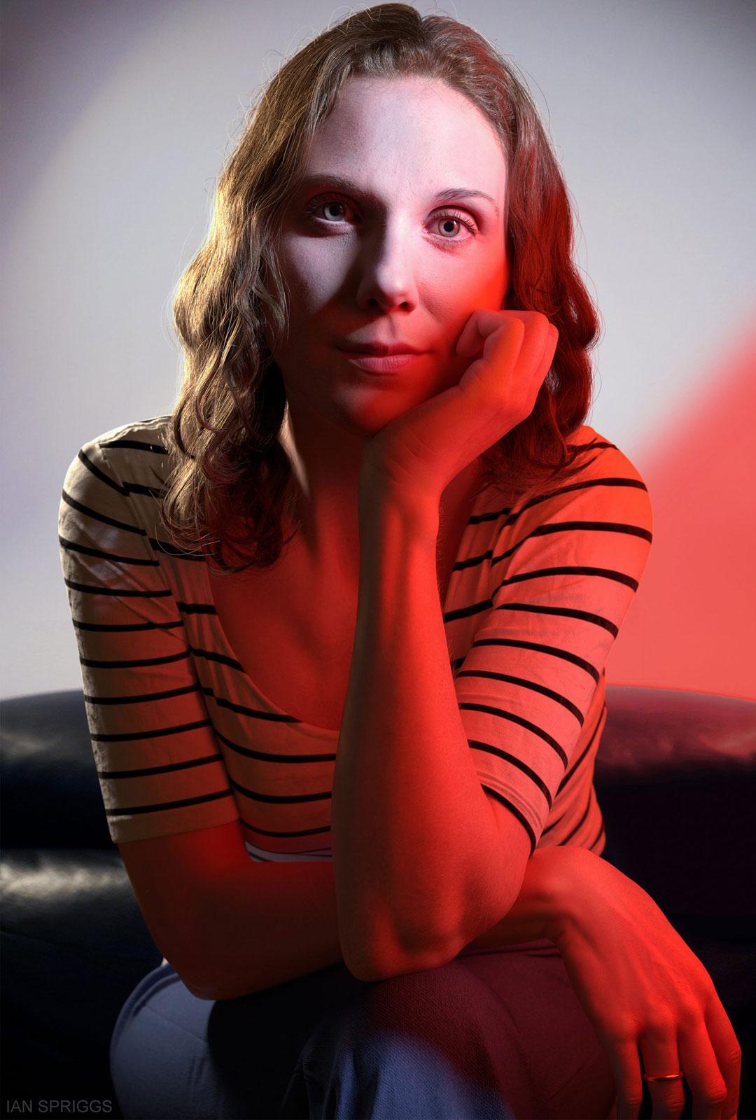 3D Porträt Frau von vorn