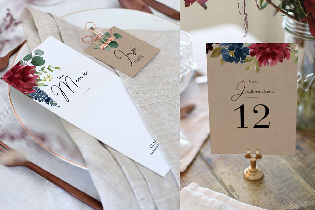 Traumhafte Hochzeitskartendesigns von Cotton Bird