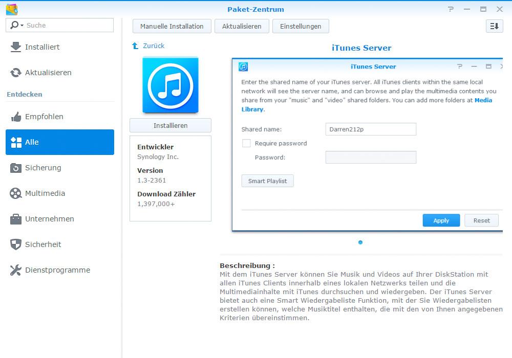 iTunes auf dem NAS speichern