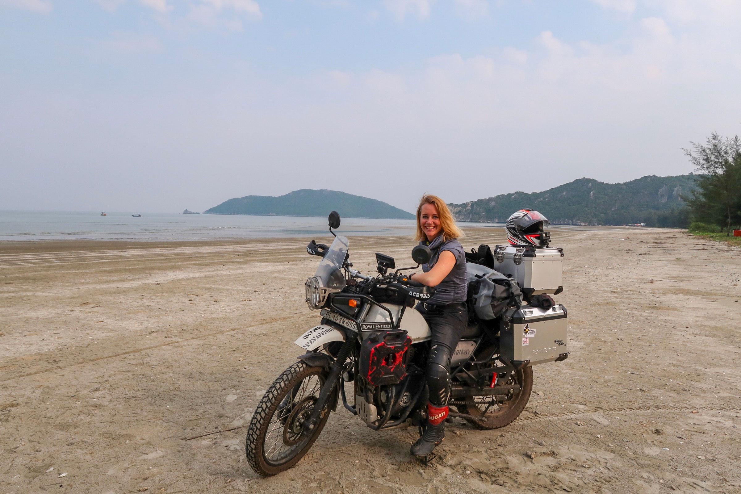 Deserted beach on Thailand