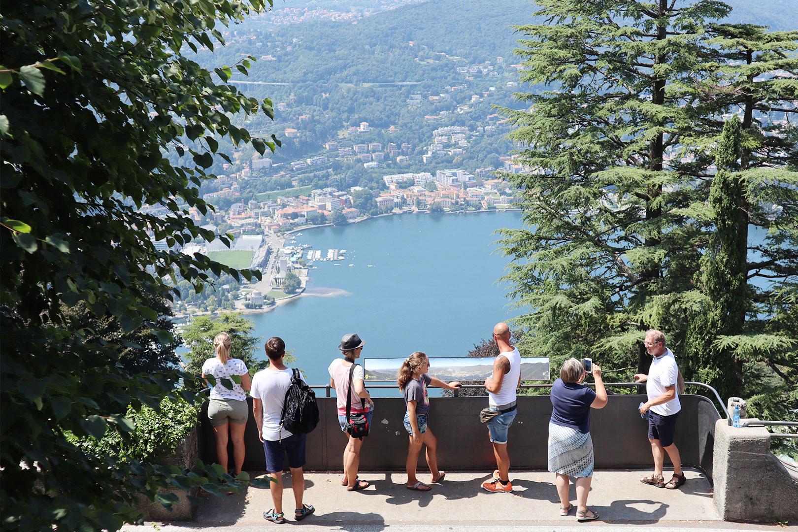Aussicht über den Comer See