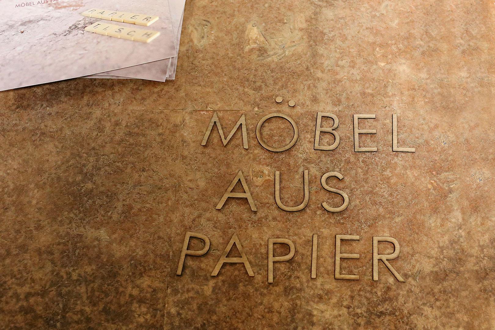 Möbel aus Papier von Cengiz Hartmann