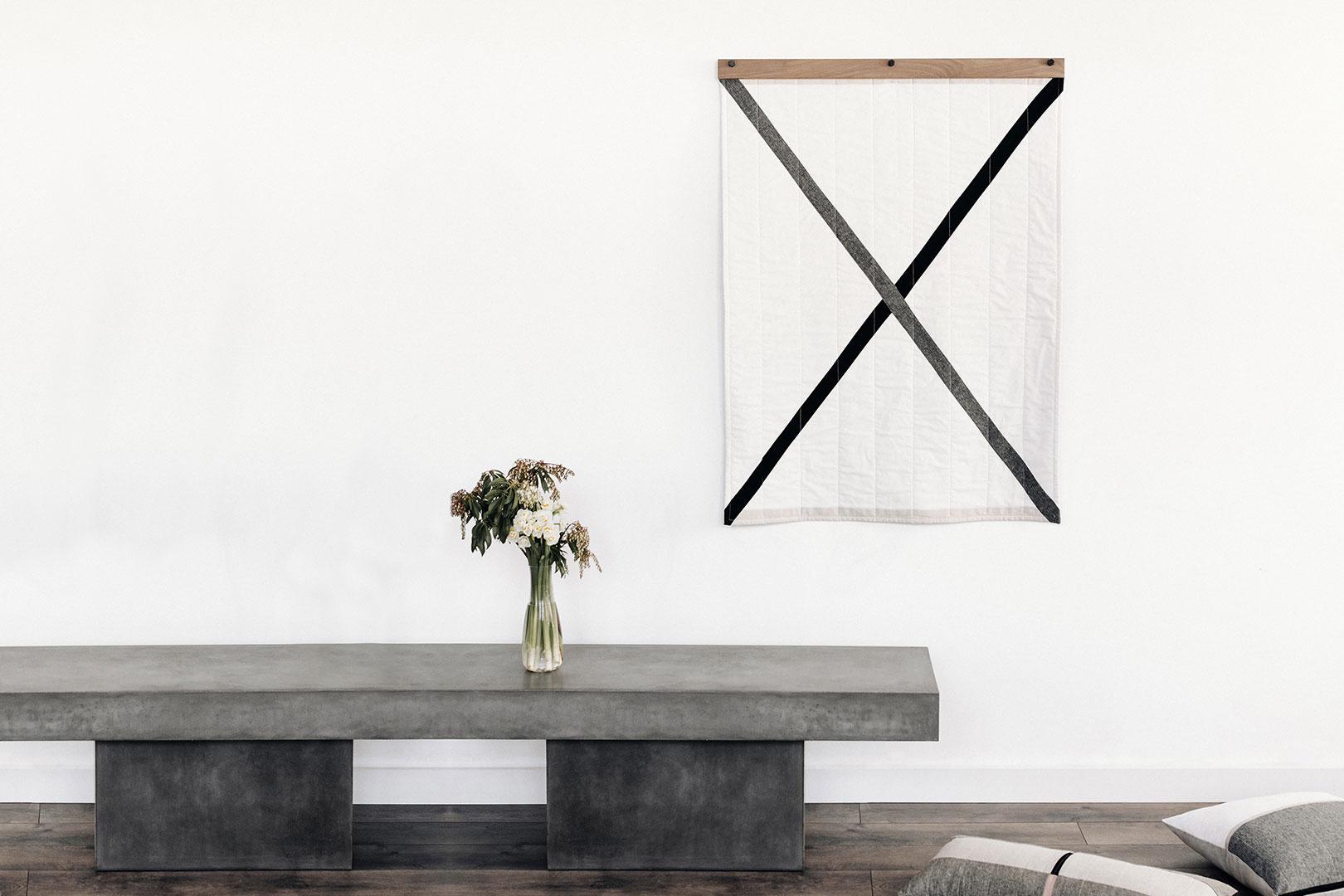 Das Revival des Wandteppichs: Diese Decken fungieren als abstraktes Gemälde