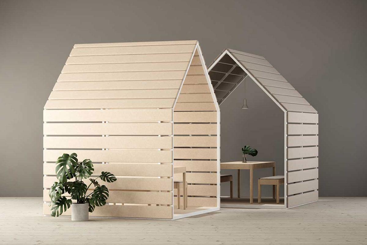 Hütte im Haus – mit den Pavillons von Glimakra schaffst du einladende Rückzugspunkte