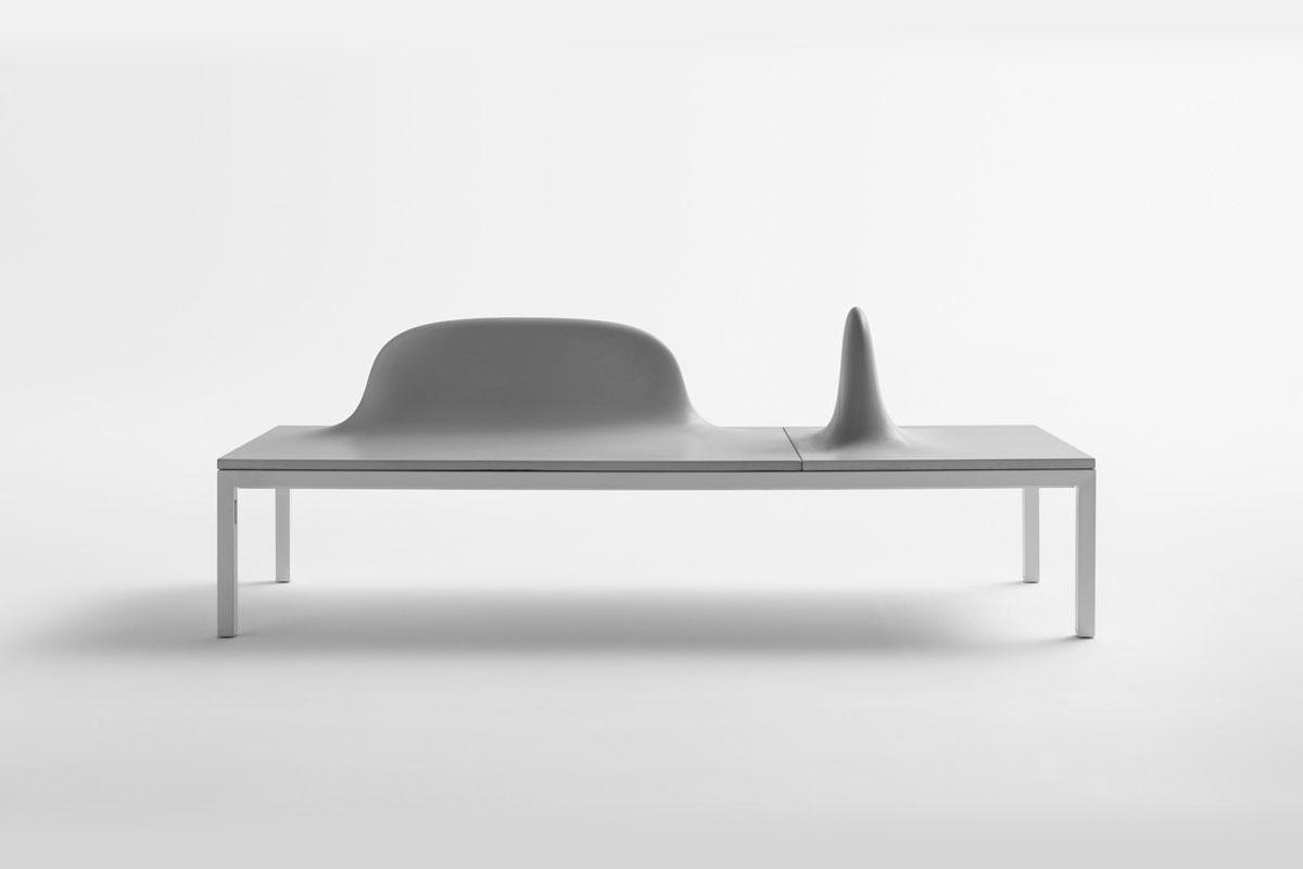 Modulare minimalistische Sitzbänke