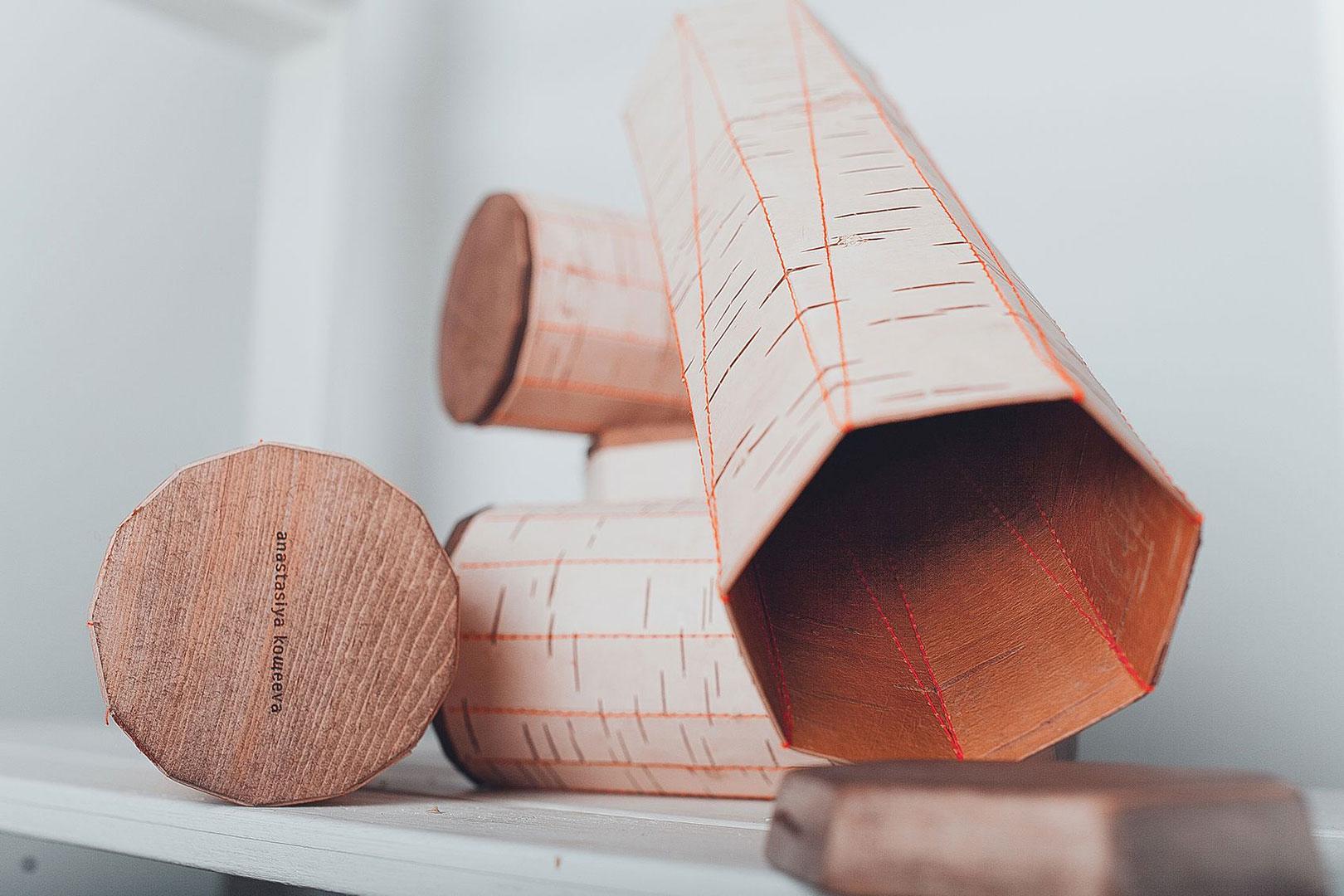 Möbel aus Birkenrinde von Anastasiya Koshcheev