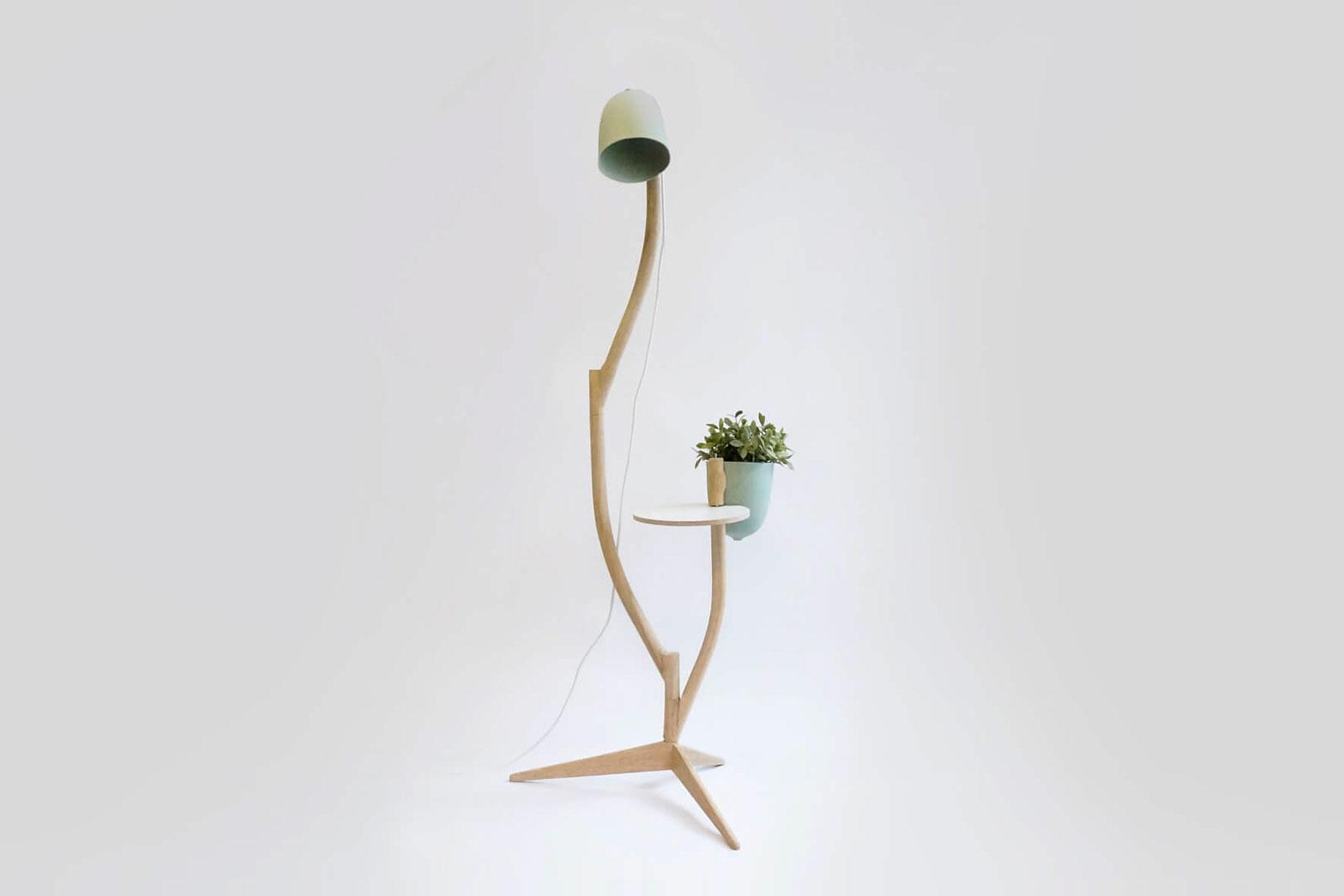 Pflanze Lampe Tisch von Studio Lorier