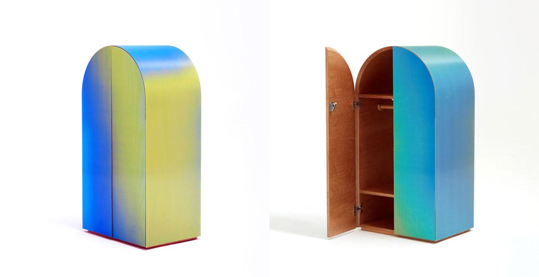 Regenbogen Hippie-Schränke, die beim Vorbeilaufen Ihre Farbe ändern