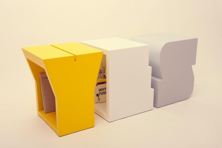 Buchstaben Möbel von Sascha Grewe