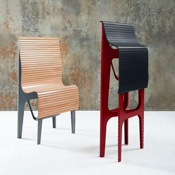 Stuhl und Hocker