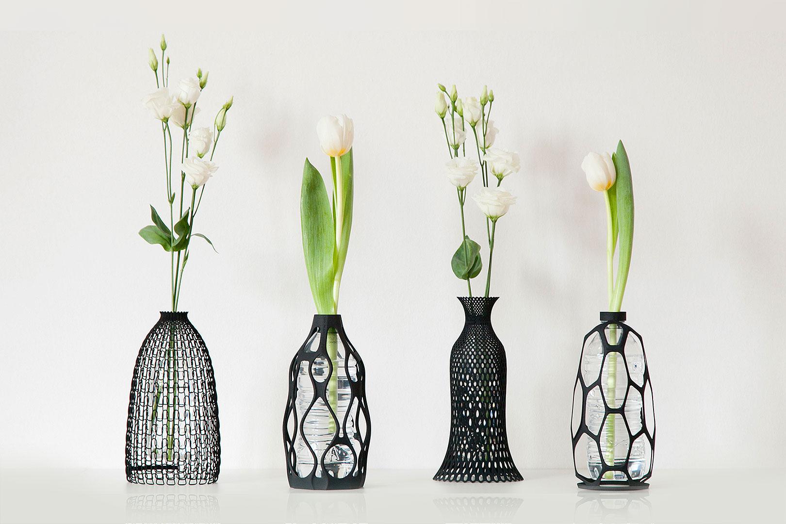 Vase geht ab? So machst du mit dem 3D-Drucker aus Wasserflaschen Blumenvasen